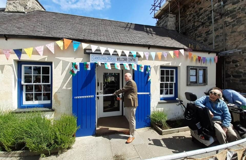 Paul Davies AM recently officially opened Newport's Canolfan Croeso Welcome Centre.